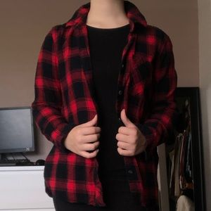 Red and black flannel.